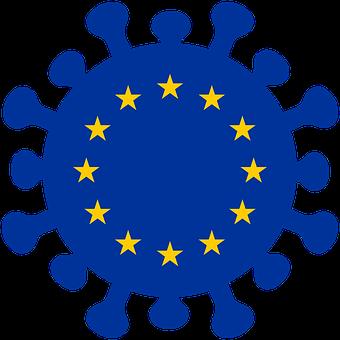 Virus, Corona, Europe, Icon, Symbol, Covid-19