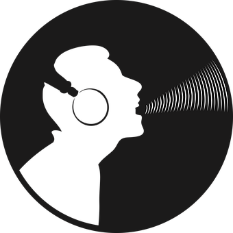 Silhouette, Man, Singer, Voice, Headset, Sound, Record