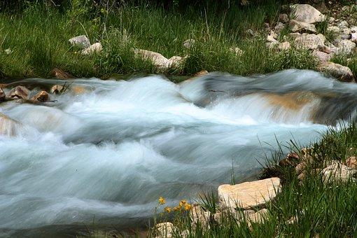 River, Water, Nature, Flow, Flowing, Rapids, Stream