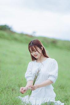 Woman, Young, Meadow, Leisure, Enjoyment, Field