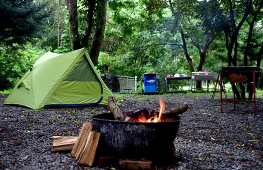 Camping, Firewood, Camping Site, Camp, Bonfire, Tent