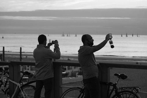 People, Cellphone, Smartphone, Camera, Balcony, Beach