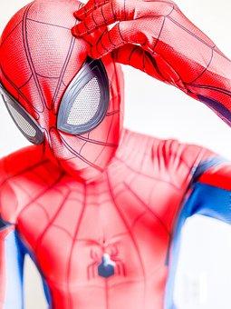 Spiderman, Costume, Zentai, Cosplay, Spider-man, Mask