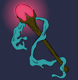 Scepter, Light, Staff, Wand, Icon, Digital Artwork