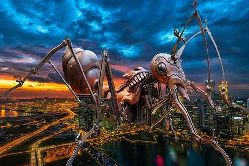 Ant, Giant, Terror, City, Fantasy, Attack, Danger
