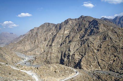Oman, Musandam, Habinsel, Exclave, Landscape, Mountains