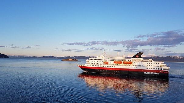 Norway, Hurtigruten, Ship, Fjord, Norge, Cruise Ship