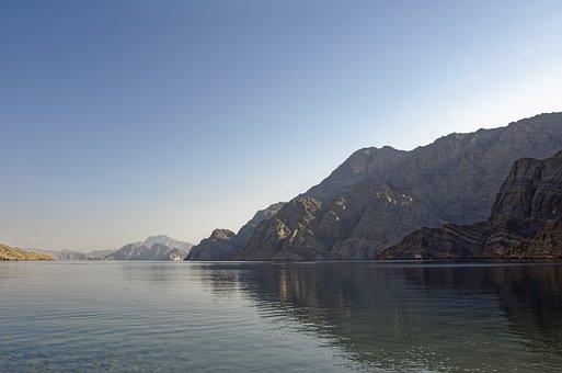 Oman, Musandam, Khor Najd, Habinsel, Exclave, Fjord