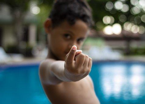 Child, Boy, Pool, Swim, Swimming Pool, Challenge, Hand