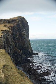 Neist Point, Isle Of Skye, Scotland, Water, Cliff, Sea