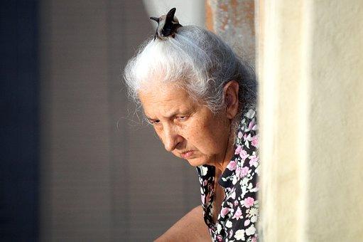 Woman, Lady, Adult, Elder, Gray Hair