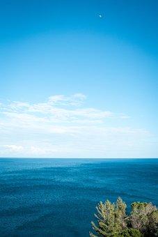 Sea, Water, Ocean, Background, Blue, Seascape, Horizon