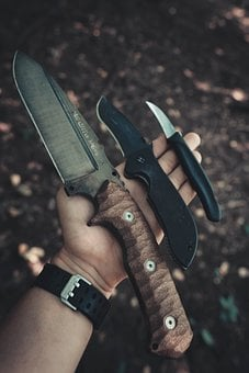 Knives, Nature, Background, Tool, Weapon, Forest