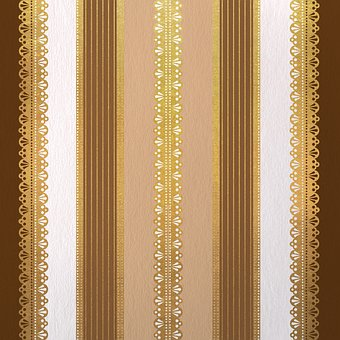 Stripes, Lace, Brown Stripes, Decorative, Pattern