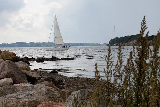 Coast, Sea, Baltic Sea, Sailing Boat, Summer, Sky