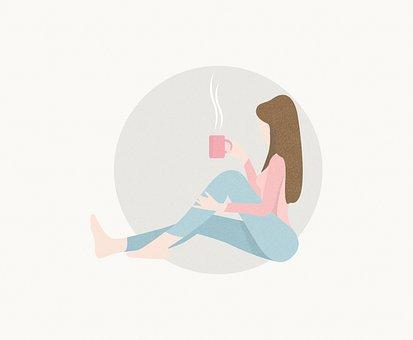 Woman, Cup, Coffee, Tea, Relax, Home, Girl, Peaceful