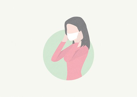 Mask, Girl, Woman, Face Mask, Flu Mask, Virus