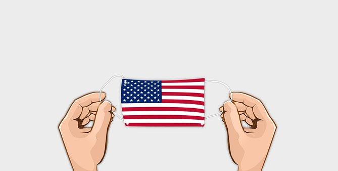 Corona, Mask, Flag, Hand, Usa, America, Virus, Pandemic
