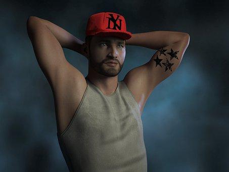 Man, Cap, Pose, Person, Male, Hat, Model