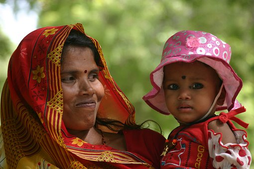 Indian, Portrait, Mother, Child, Mother And Child, Face