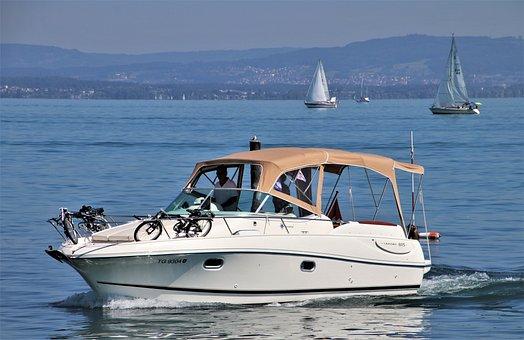 Bodensee, Motorboat, Sailboat, Boating, Sailing, Boats
