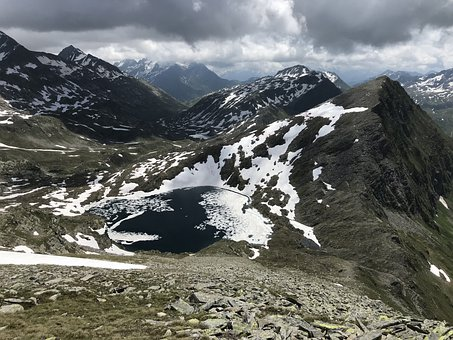 Panorama From The Punta Negra, Alpine Route, Alps