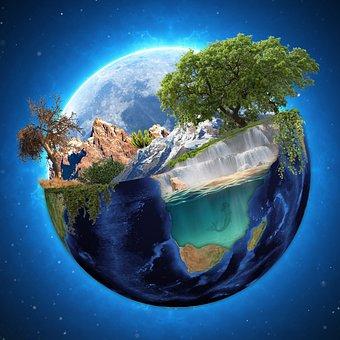 Earth, Sky, Space, Universe, Moon, Astronomy, Globe