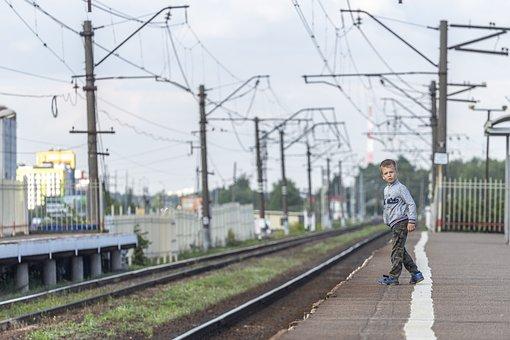 Son, Boy, St Petersburg, Russia, Leningrad, Platform