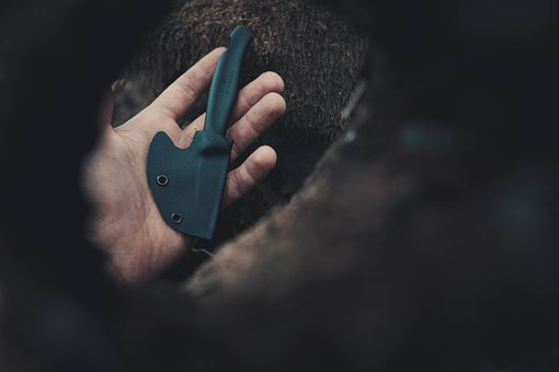 Knife, Weapon, Tool, Blade, Hand Holding A Knife, Hand