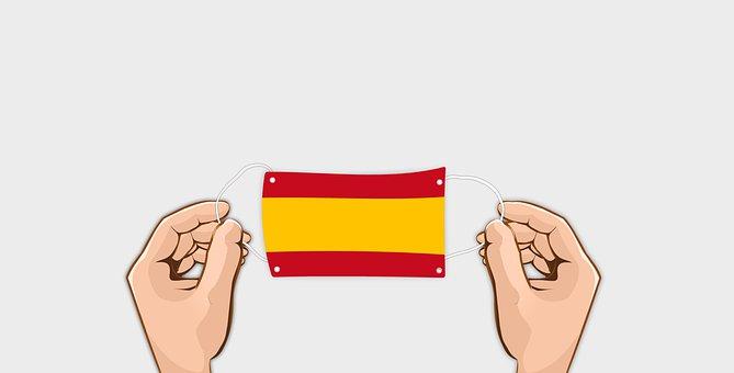 Face Mask, Flag, Hands, Spain, Virus, Pandemic