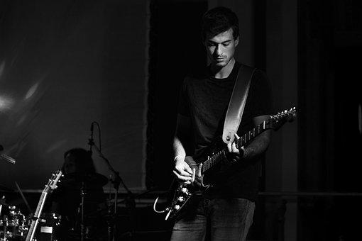 Guitar, Guitar Player, Guitarist, Man, Band