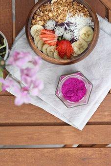 Bowl, Healthy, Fruit, Breakfast, Yogurt, Strawberry