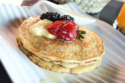 Pancakes, Fruit, Healthy, Breakfast, Hotcakes