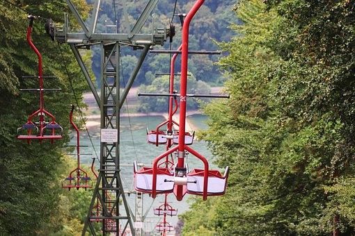 Chairlift, Assmannshausen, Rhine, View Of The Rhine