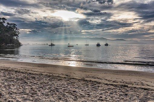 Snug, Australia, Tasmania, Sea, Clouds, Reserve