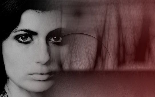 Woman, Model, Face, Blood, Fear, Person, Eyes, Hair