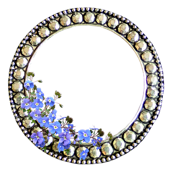 Frame, Border, Decoration, Flowers, Blue, Speedwell