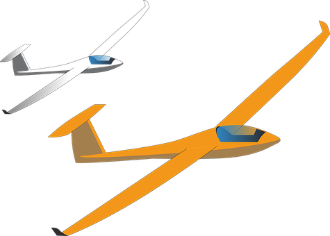 Glider, Aviation, Aircraft, Cockpit, Glider Drawing