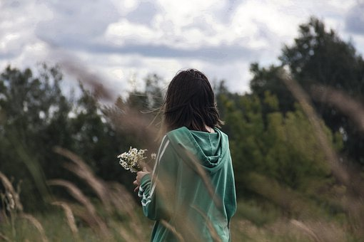 девушка, поле, Girl, Nature, Child, Happy, Dress