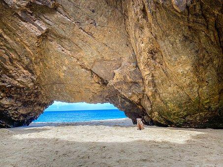 Rock Formation, Landscape, Beach, Sand, Rock, Sea