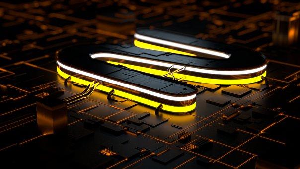 Tech, Light, Render, Letter, Neon, Design, Technology