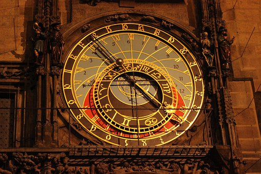 Prague, The Astronomical Clock, Time, Architecture, Old