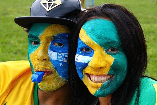 Brasil, Torcedor, Pinturaderosto