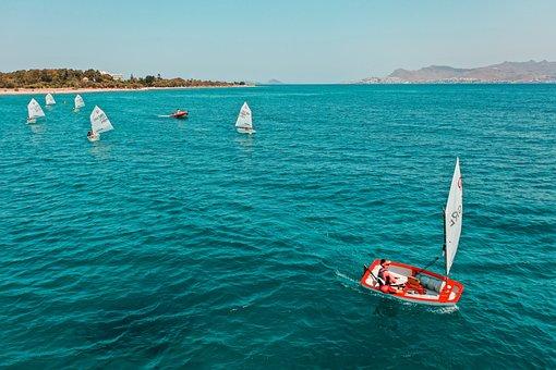 Kos, Sea, Sailboats, Greece, Boats, Sailing, Coast