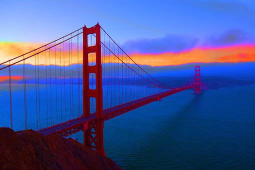 Golden Gate Bridge, San Francisco, Sunset
