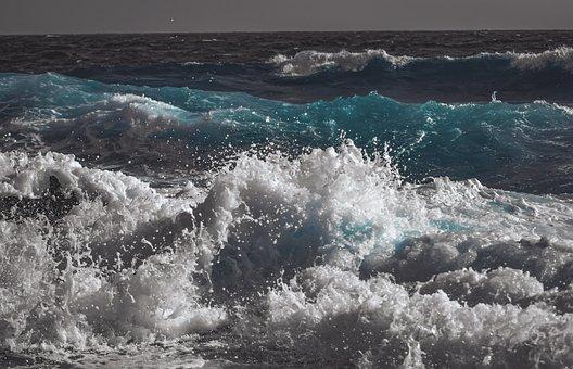 Wave, Splash, Ocean, Beach, Sea, Water, Sea Foam
