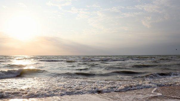 Sea, Ocean, Beach, Sky, Sunrise, Sun, Sunlight