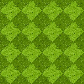 Square, Checkered, Geometric, Shapes, Dots, Pattern