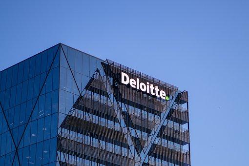 Skyscraper, Deloitte, Logo, Glass, Building, Business