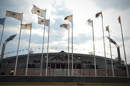 Stadium, Football, Sports, Sports Arena, Flags